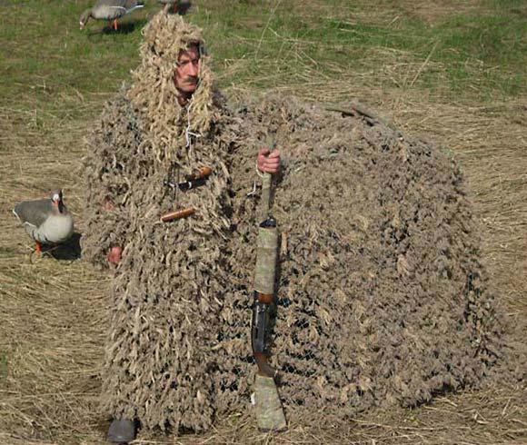 Как сделать маскировочную сеть для охоты на уток